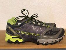 Men's La Sportiva Bushido Trail Running Hiking Shoes Sz 12.5 Green Gray Black