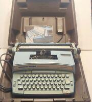1970s Smith Corona Electric Typewriter Coronet Super 12 Coronamatic Blue W Case