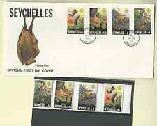 SEYCHELLES 1981 OFFICIAL 2 FDC's & MNH SET & S/S SC 479-82a FLYING FOX FREE SHIP