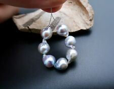 RARE ALL NEW AA+ VIETNAMESE AKOYA CULTURED PEARLS AMAZING!!! SILVER BLUE COLOR