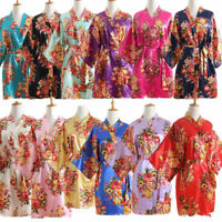 Silk/Satin Floral bridesmaid robes gowns bride bath robe wedding kimono robes***