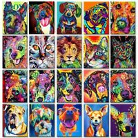 Dogs Cat Animals Painting By Numbers Kit Includes Paints / Brush / Board