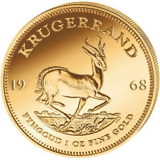 1 oz Gold Krügerrand 1968 Stempelglanz in Münzkapsel und Etui mit Zertifikat
