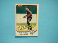 1981/82 TOPPS NHL HOCKEY CARD #18 JARI KURRI ROOKIE NM SHARP+ 81/82 TOPPS