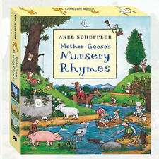 Mother Goose's Bedtime Rhymes Collection 3 Books Box Set By Axel Scheffler New
