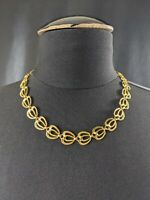 Lovely Vintage Gold-tone Ribbon design necklace choker by Galbani Jewellery