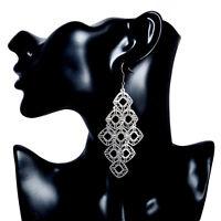 New Fashion Women Drop Earrings Gold Silver Plated Dangle Hook Earrings Jewelry