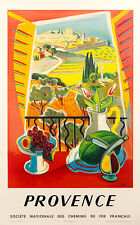 Provence by Tal on linen excellent on linen VINTAGE ORIGINAL FRENCH POSTER