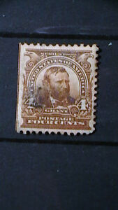 MH OG SERIES OF 1902 4c GRANT STAMP  Sc#303 CV$60.   090A5