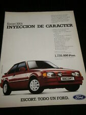 FORD ESCORT XR3I - CAR VOITURE COCHE - AD PUBLICITE ANUNCIO - SPANISH - 2420