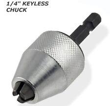 New 1/4 MINI Snap In Hex Shank KEYLESS Electric DRILL CHUCK