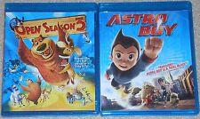 Kids Blu-ray Disc Lot - Astro Boy (Used) Open Season 3 (Used)