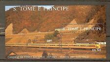 TRAINS LOCOMOTIVES TRANSPORT BLOC ST THOME ET PRINCIPE 1 VALEURS
