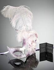 original venezianische Maske mit Federn Karneval Maskenball Fasching Handmade