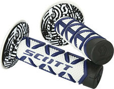 New Scott Diamond style grips blue white black Yamaha YZ85 YZ80 YZ65 twist mx