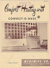VINTAGE CATALOG #2799 - 1950 MINIMITE CO CONVECT-O-BASE HEATING