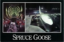 Spruce Goose - split-view of Plane and portion of hull interior