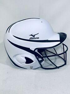 MIZUNO Youth Baseball Batting Helmet MBH601 White Black 6 1/2 - 7 1/4