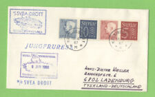 Sweden 1967 cover to Germany withy M/F Svea Drott ship cancel