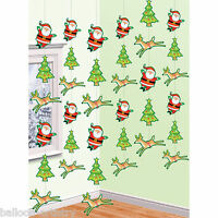 6 Festive Friends Christmas 7ft Hanging String Decorations