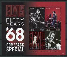 Nevis 2018 MNH Elvis Presley 68 Comeback Special 4v M/S Music Celebrities Stamps
