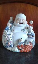 bouddha porcelaine Chine - Antique Chinese porcelain Buddha five boys H 27 cm