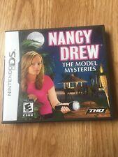 Nancy Drew The Model Mysteries Nintendo DS NDS Cib Game XP2