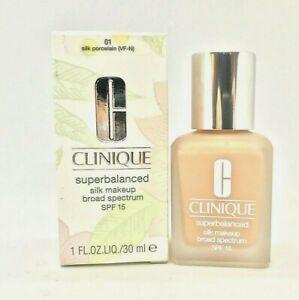 Clinique Superbalanced Silk Makeup SPF 15 ~ 01 Silk Porcelain ~ 1 oz / 30 ml