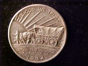 OREGON TRAIL 50 CENTS 1934-D CLEANED