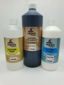 1000ml All In One Leather & Vinyl Restore Worn Set/Kit Includes Prep & Finish