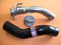 RODEO LONG RANGE OR DROPSIDE TRAY FUEL TANK FILLER PIPE NECK  +  CAP AND HOSE