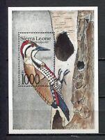 27662) Sierra Leone 1992 MNH Neuf Birds S/S Bf