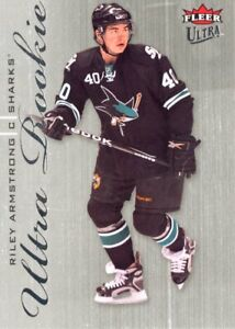 Riley Armstrong - 2009-10 Fleer Ultra Rookie RC #239 Sharks
