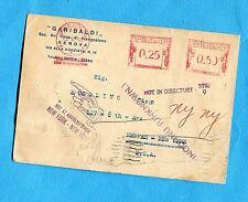 1936 GENOVA- GARIBALDI COOP.DI NAVIGAZIONE cartolina con DUE IMPRONTE   (237130)