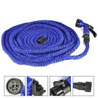 3X Expandable Flexible Garden Water Hose Pipe w/Spray Nozzle Gun 25 50 75 100 FT