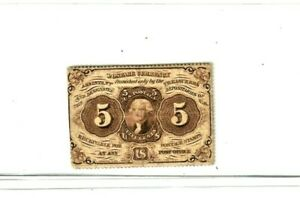 """5 CENT  """"FR-1229"""" (PERFORATED) 1800'S """"KEYNOTE""""!!  FR-1229 (PERFORATED"""" CRISPY!!"""