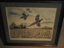 """CLAY McGAUGHY S/N (370/500) PRINT """"SHOW OFF""""-PUBLISHED 1971-FRAMED/MATTED W/COA"""