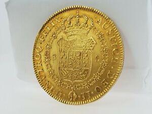 Moneda de oro española Fernando VII 1814 - 1820 En perfecto estado