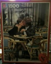 COFFEE & CROISSANT 1500 Piece Romantic MB Jigsaw Puzzle Cafe New & Sealed