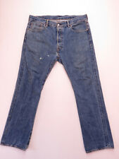 LEVIS 501 WHITE OAK CONE DENIM SELVEDGE DISTRESSED BLUE JEANS SZE W-38 L-32