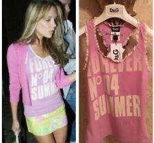 D&G Lilac Vest Top COLLECTORS ITEM summer 04 Logo Top