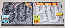 THE BEST OF 1980-1990 VOL 1 2 - QUEEN WHAM TOTO ROXETTE PET SHOP BLONDIE DURAN
