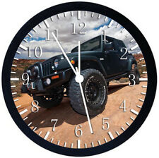 Jeep Wrangler Off Road Black Frame Wall Clock Nice For Decor or Gifts E352