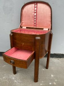 Art Deco Mahogany with Marquetry  Free Standing Vanity Box