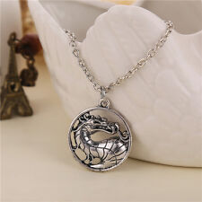 Mortal Kombat Dragon Pendant Necklace Cosplay 50cm chain. UK SELLER
