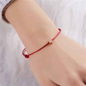 Leather Rope Bracelet Simple Bracelet Red Lady Decoration Gift Rope Bracelet KS