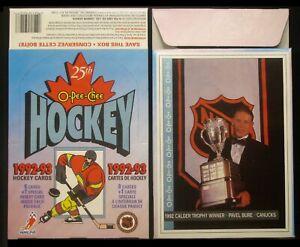 1992-93 OPC Hockey - Empty Display Box (5 x 7 Pavel Bure Card on Bottom)