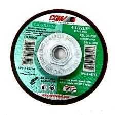 CGW 4-1/2 x 1/8 (3.2mm ASL-36P-BF Type 27 C3 Green Grinding Wheels 49751
