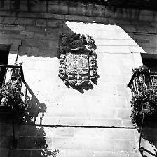 ESPAGNE c.1955 -Écusson Maison Archiduchesse d'Autriche- Négatif 6 x 6 - Esp 135