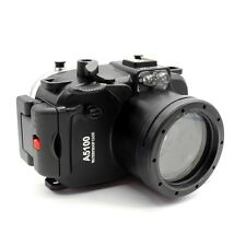 MEIKON a5100 custodia subacquea underwater housing x SONY a5100 con zoom 16-50